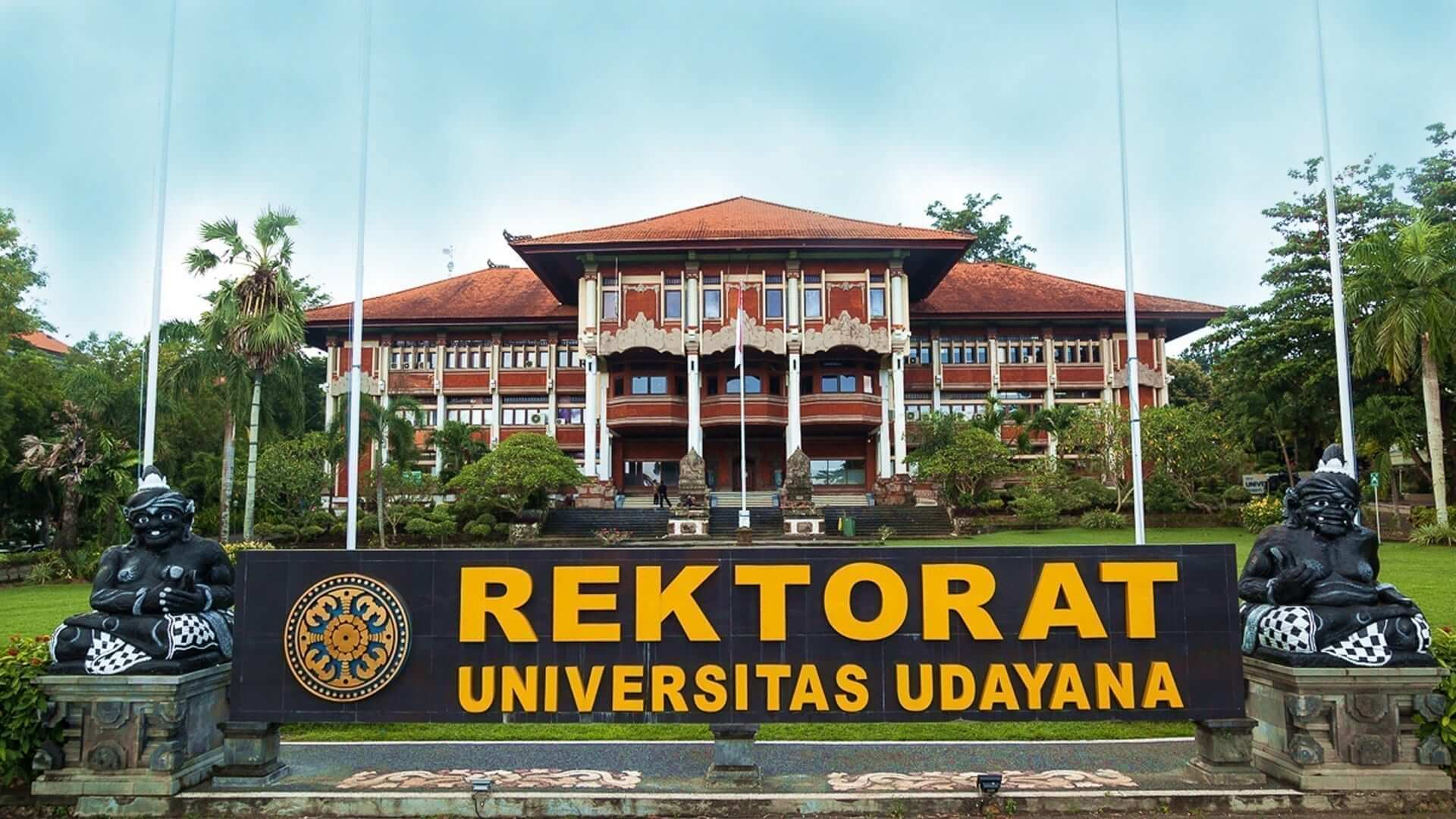 Front picture of the Rectorate building of Udayana University in Bali.