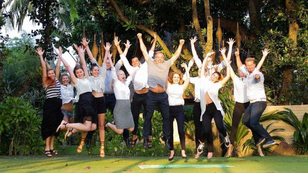 Asia Exchange team celebrating 10 year anniversary
