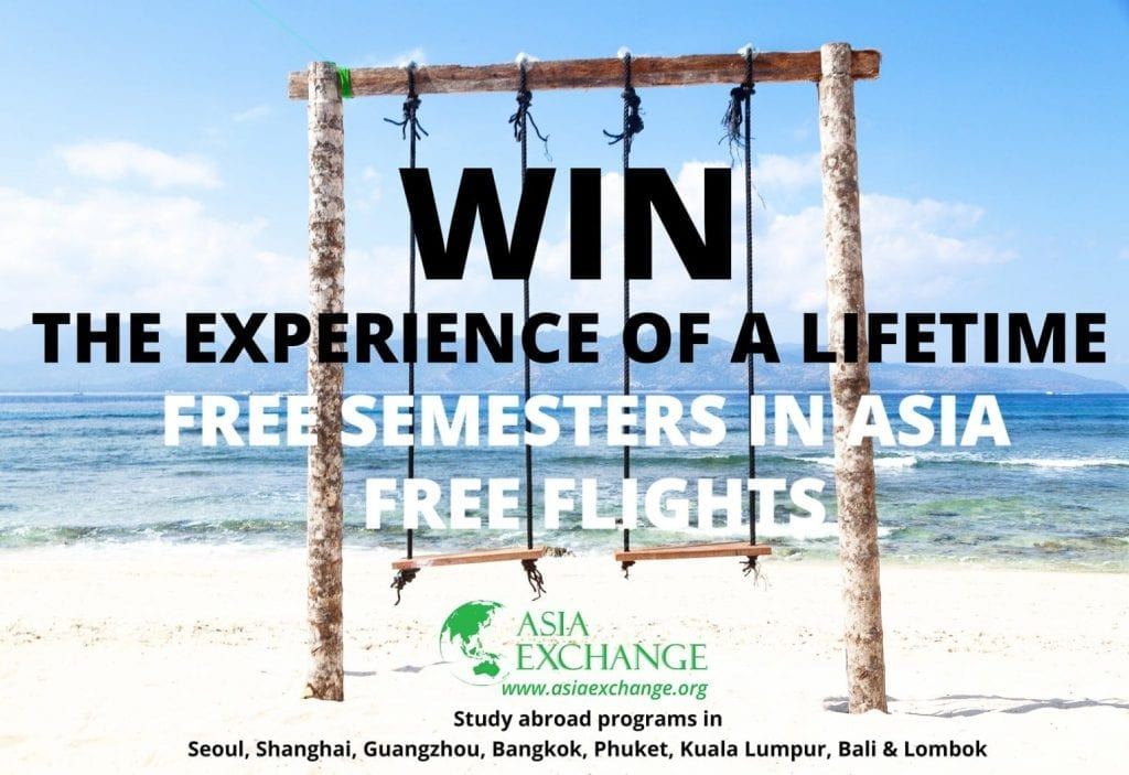 win the experience of a lifetime free semesters in asia
