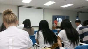 lecture in the classroom