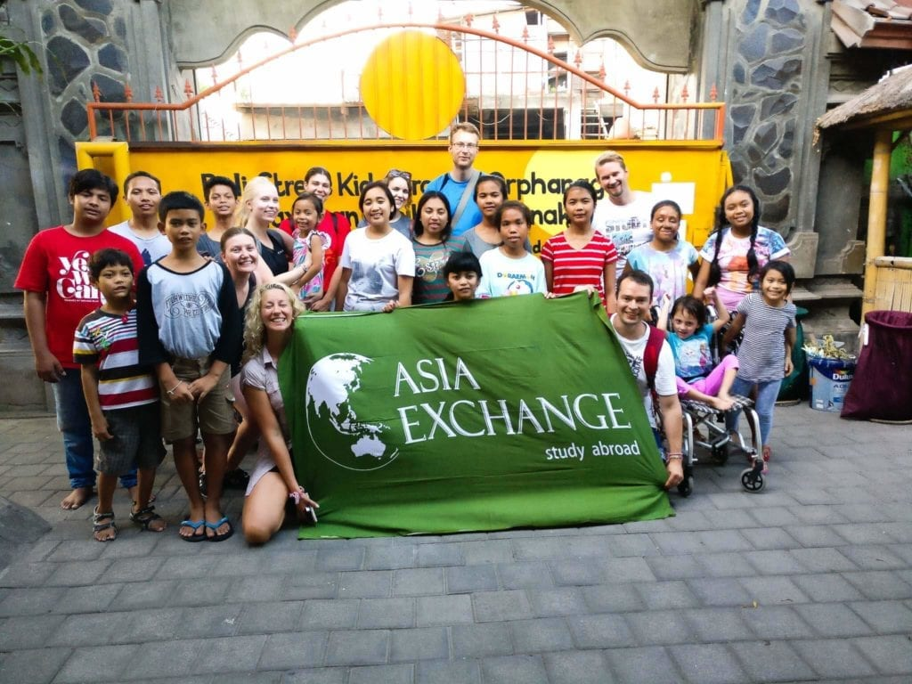 Asia Exchange posing with Bali Street Kids Project