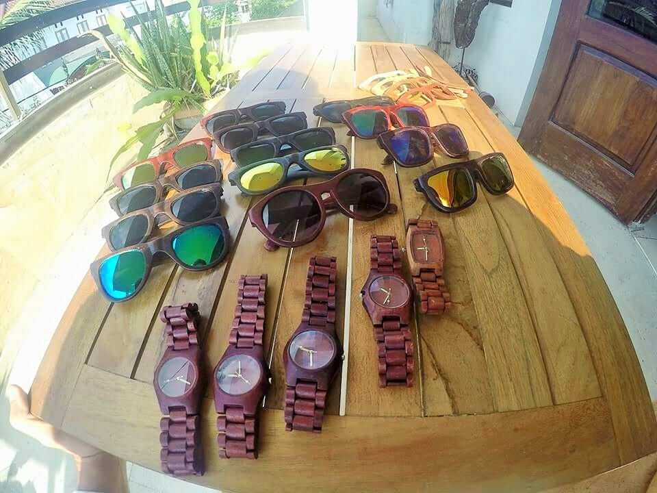 collecting the sunglasses and watches