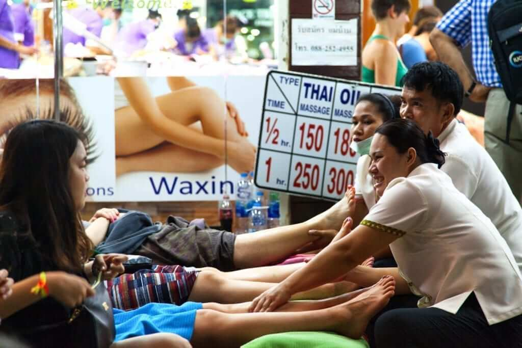 Do: Get a massage. Their cheap and relaxing. You can watch people walk by and some places even provide free wi-fi! Don't: Fall asleep. You might wake up three hours later and have to pay for the extra time.