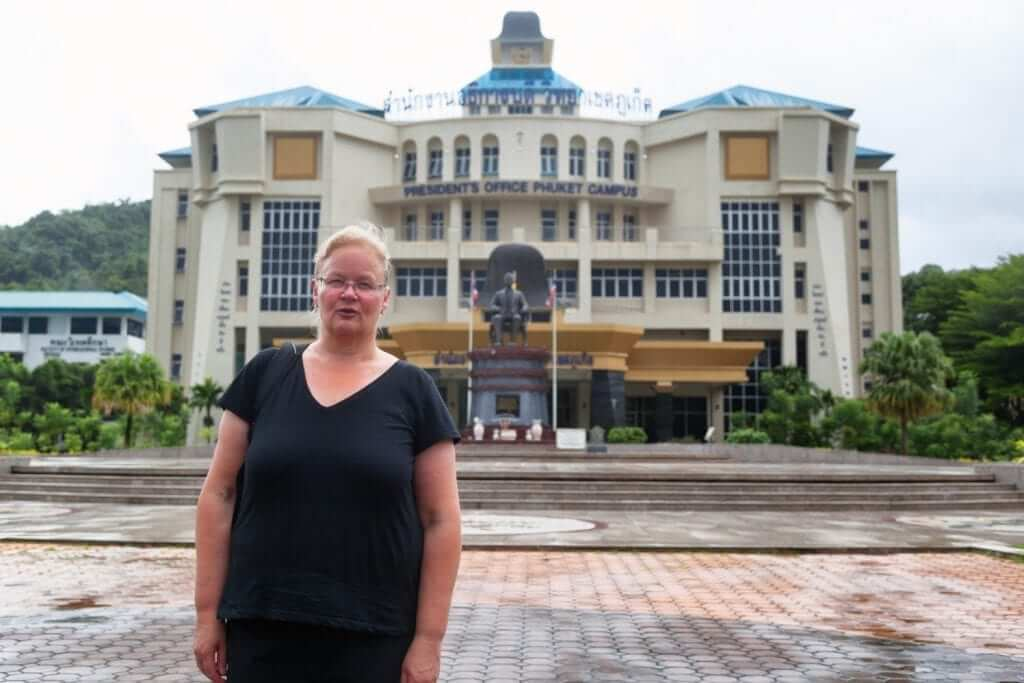 50 years old women studying in Thailand