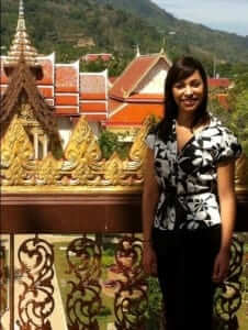 Cindy the student from california usa studied abroad in phuket thailand