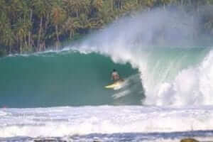Nias Island have a huge waves for surfer aswell