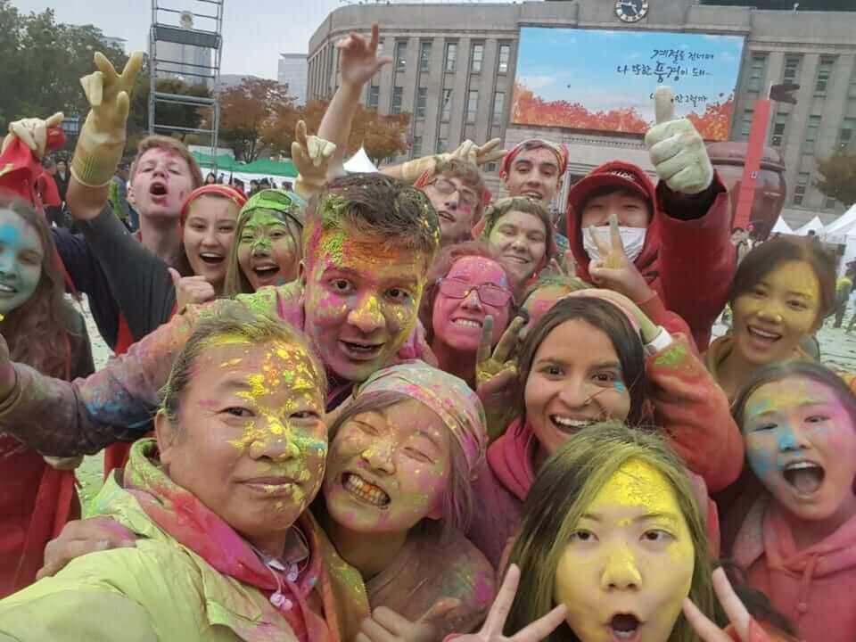 Korean Partying with colours