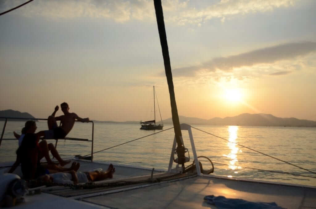 Life of luxury is not limited to apartments, catamaran sunset cruises are a student favorite!