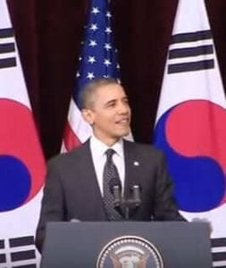 barrack obama gave a speech to the people