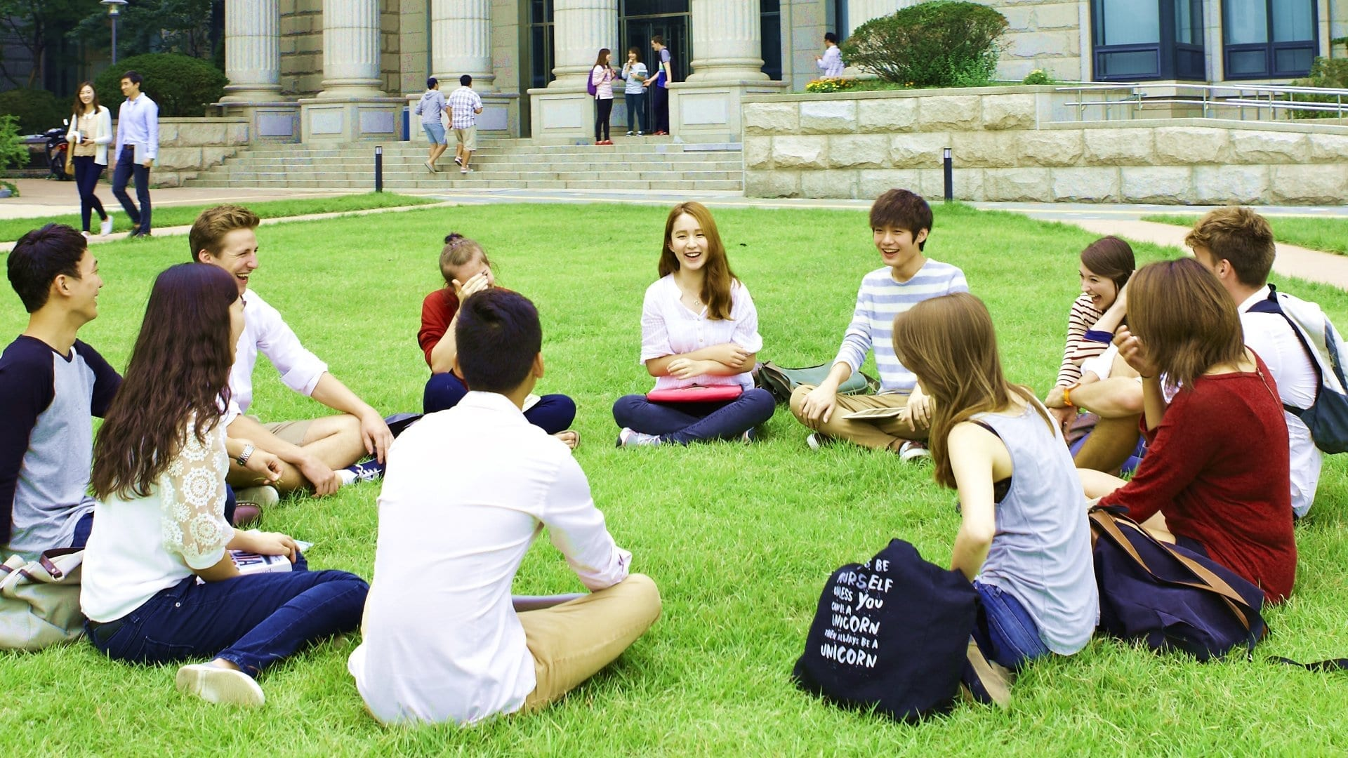 students at hankuk university of foreign studies - study abroad in seoul, korea