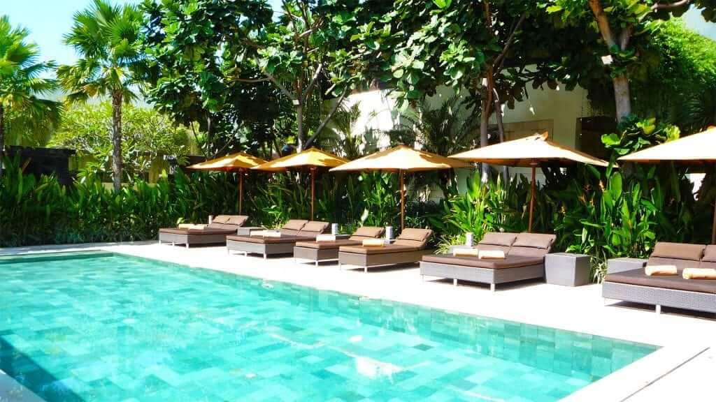 Bali student accommodation with pool