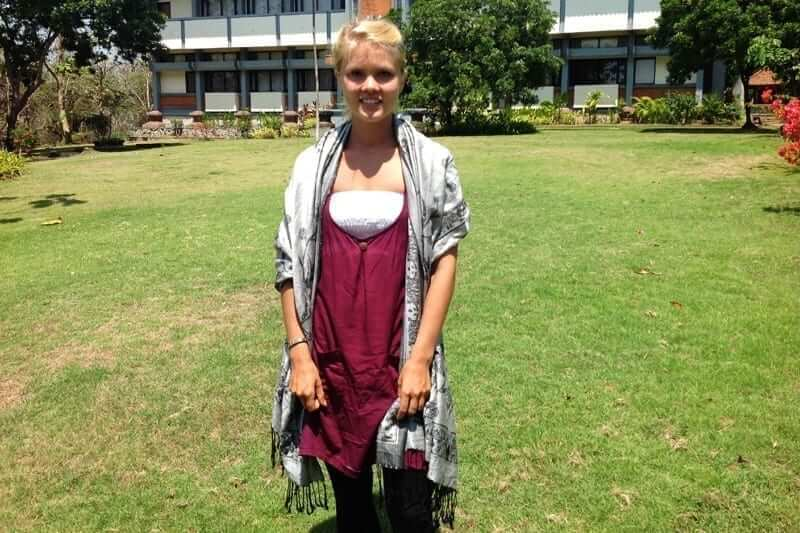 saara from finland studied abroad at udayana university in bali indonesia
