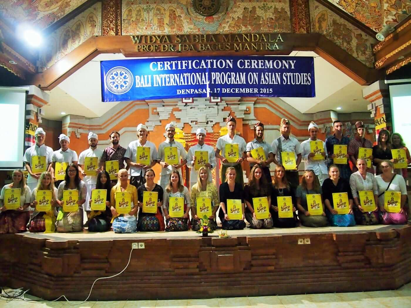 certification ceremony bali international program on asian studies