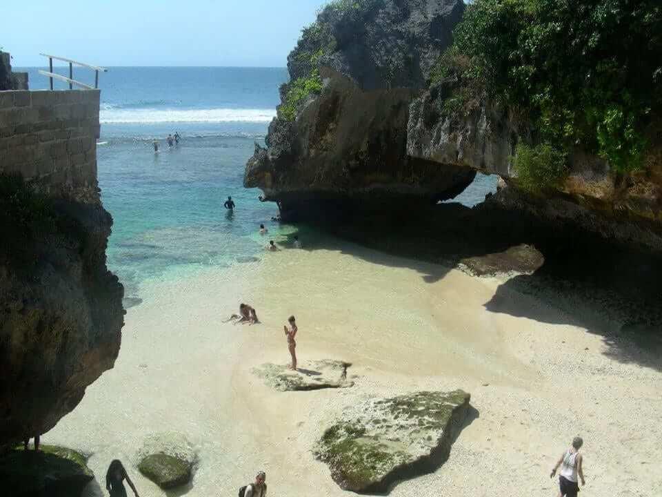 Beach cove in Bali