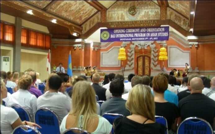 Opening ceremony at Udayana university, Bali