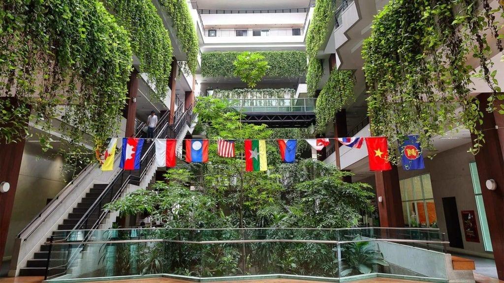 Look inside the Kasetsart University main building