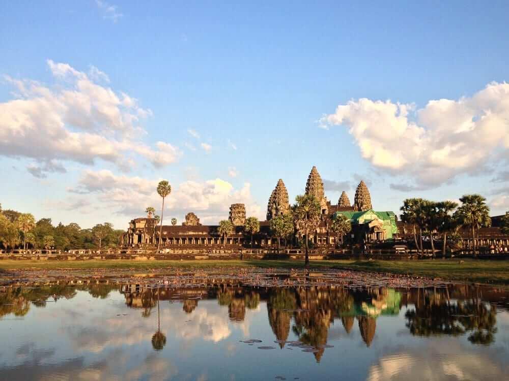views of AngkorWat temple, Cambodia
