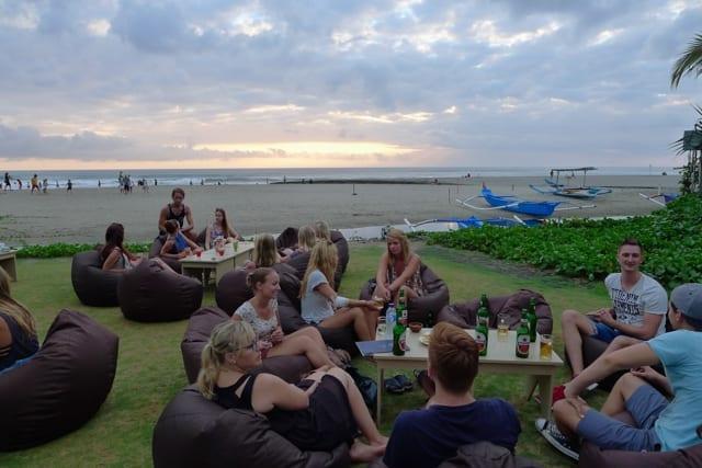 Bali exchange students dinner