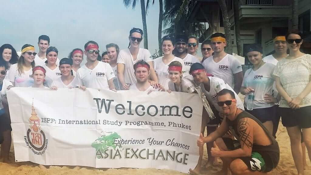 Asia Exchange student team building day in Phuket