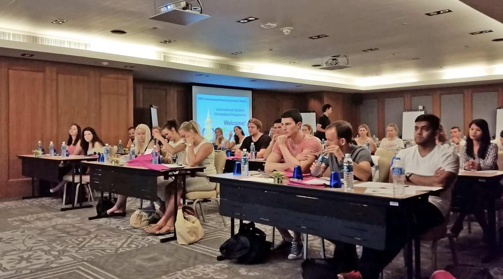 international students at prince of songkla university in phuket, thailand