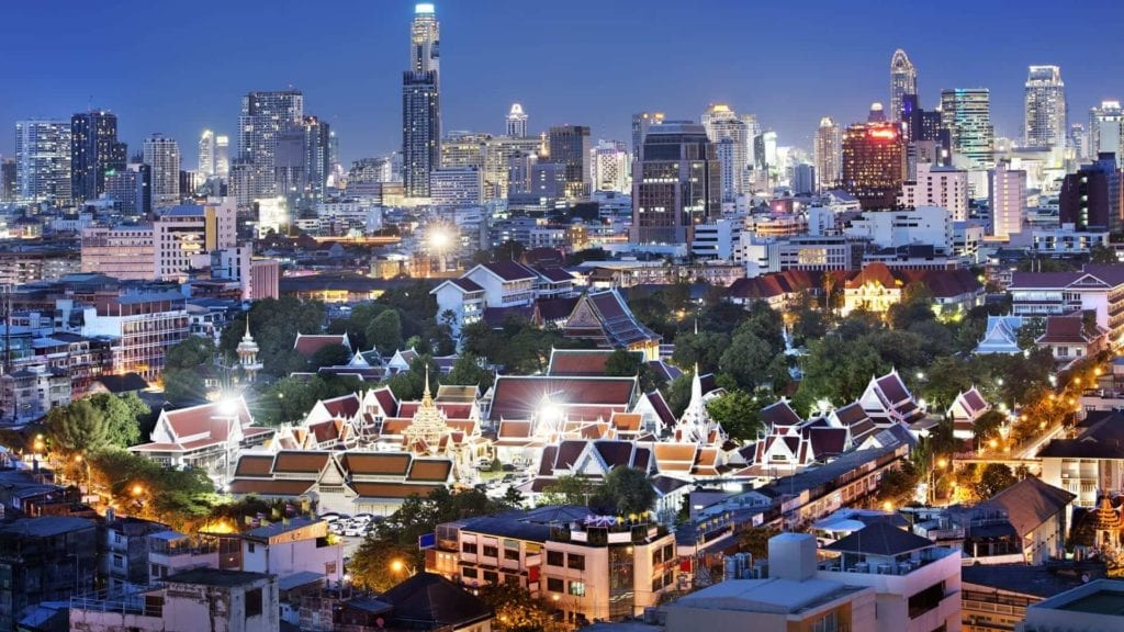 thailand city light from above