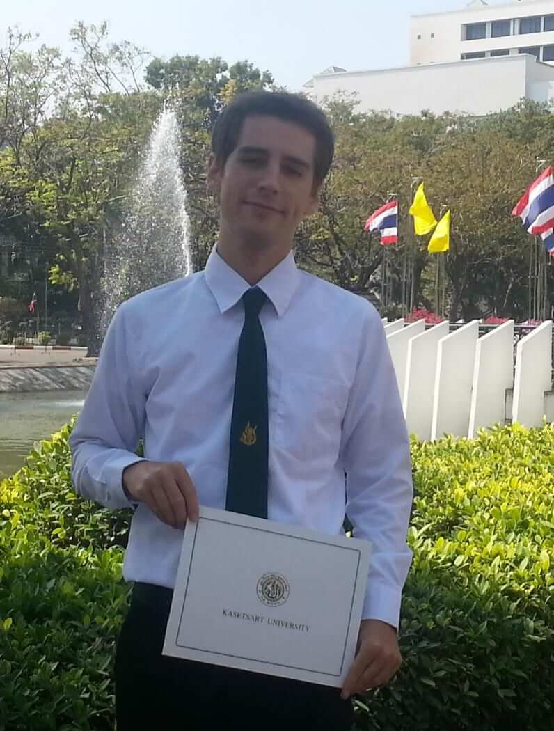jens student from germany studied in bangkok thailand