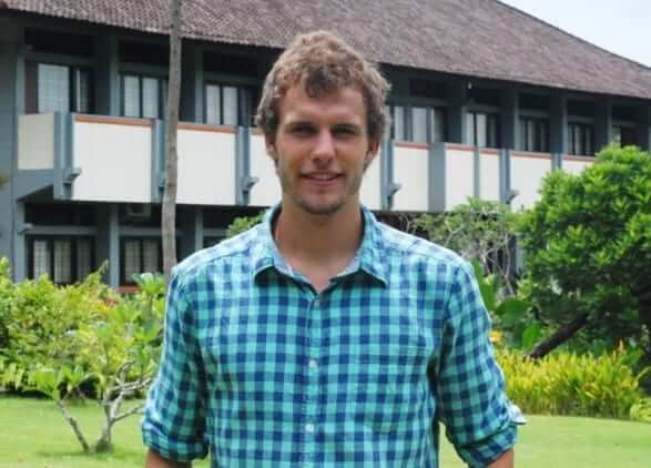 Jonas from germany studied at udayana university in bali indonesia