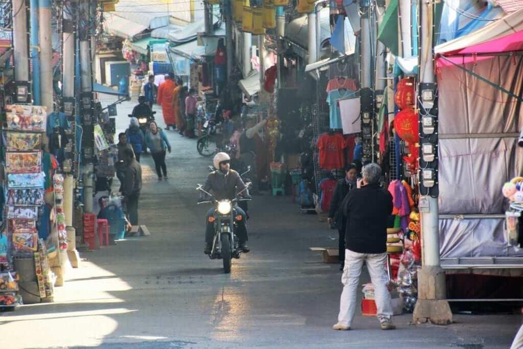 driving through the street of bangkok thailand