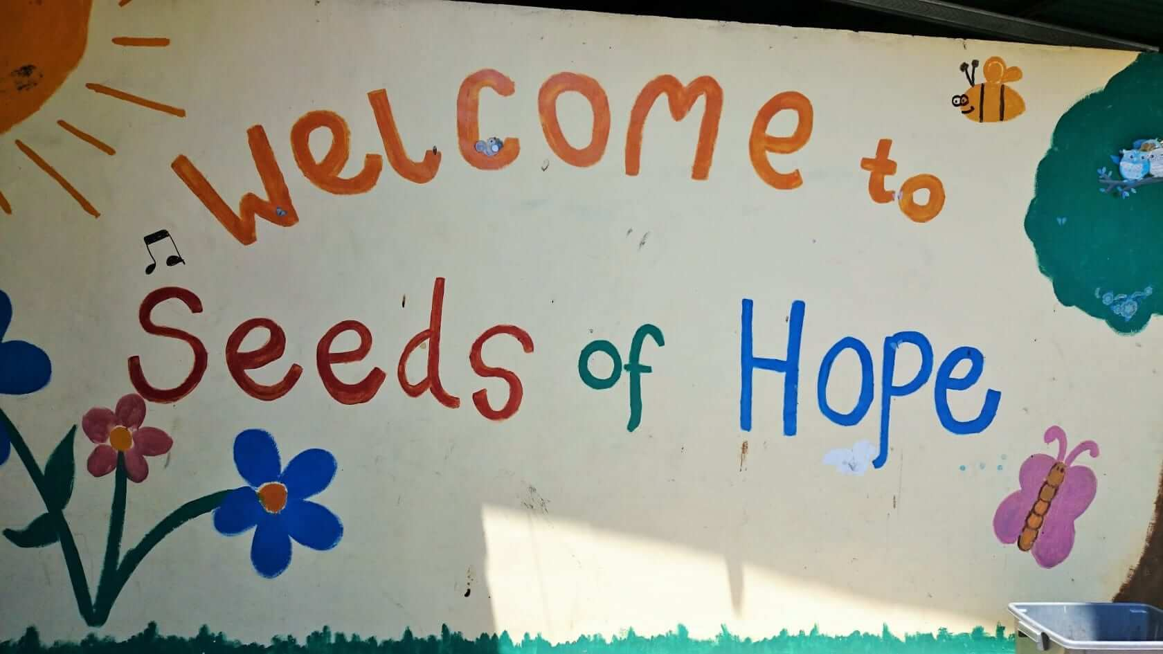 seeds of hope welcoming sign
