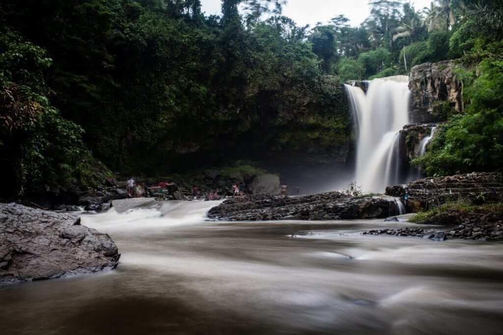waterfalls in sukawati, ubud, bali