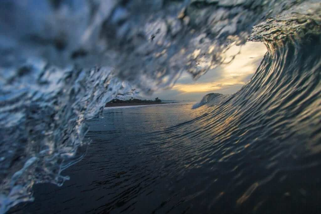 the waves in bali