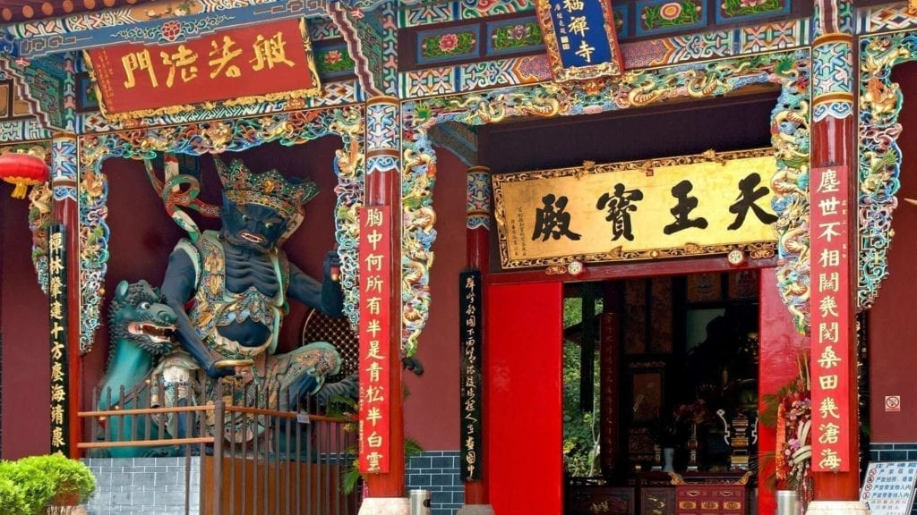 entrance of temple in china