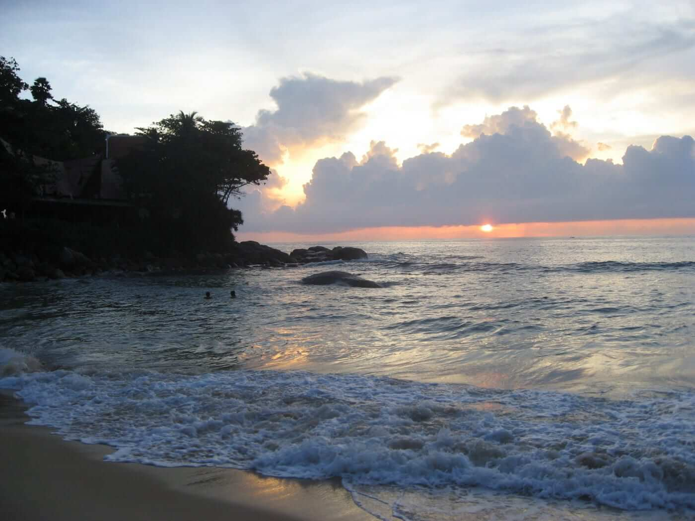 beaches in phuket during sunset