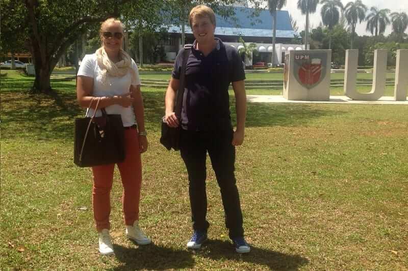 a couple from finland studied abroad at universiti putra malaysia UPM in kuala lumpur malaysia