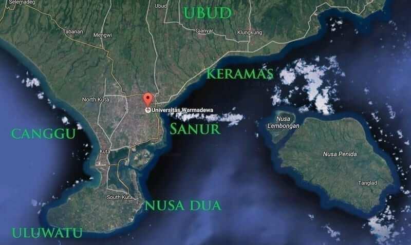 warmadewa_location_bali_map
