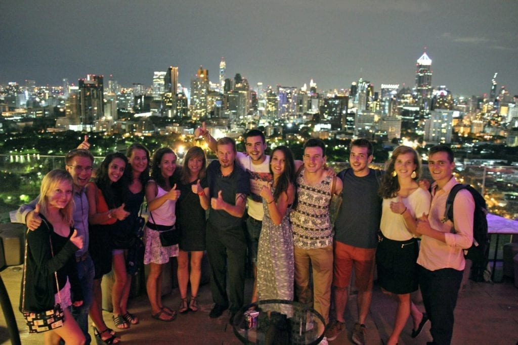 group of students happy to study in asia