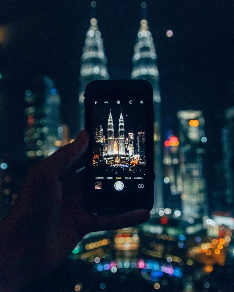 picture of petronas towers taken with an iphone