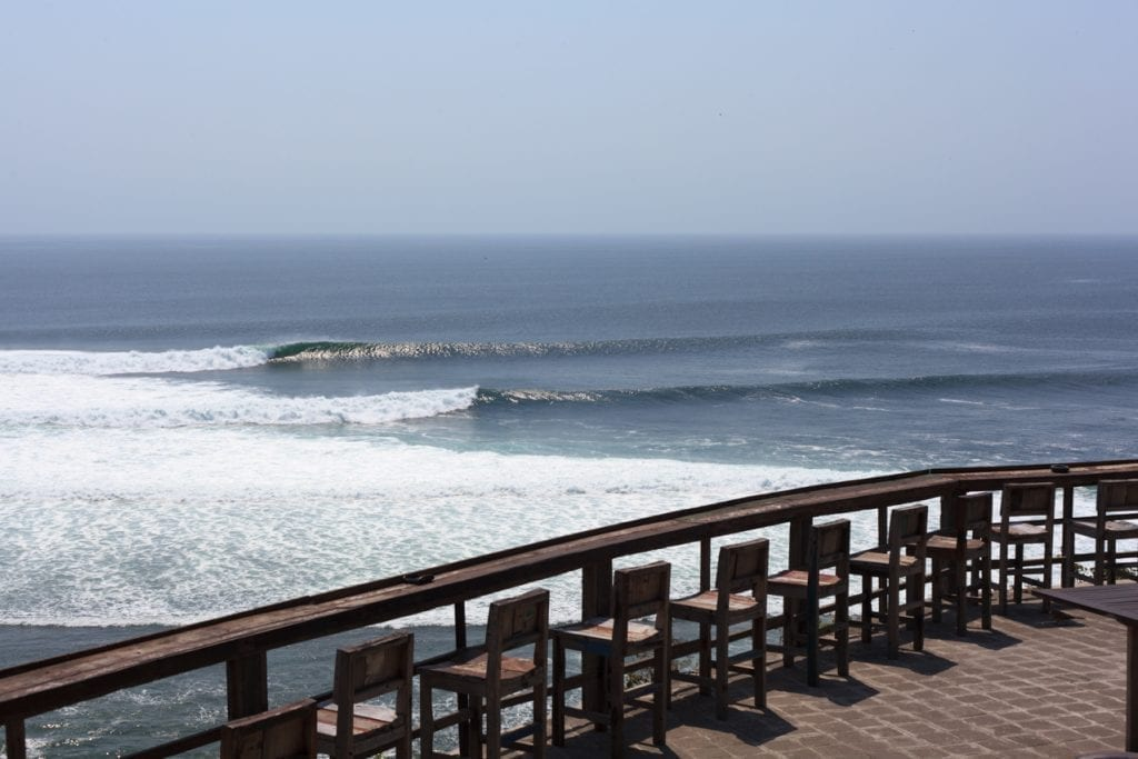 surf spot in uluwatu, bali, indonesia