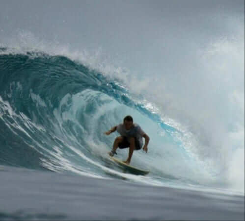 Students surfing in Bali