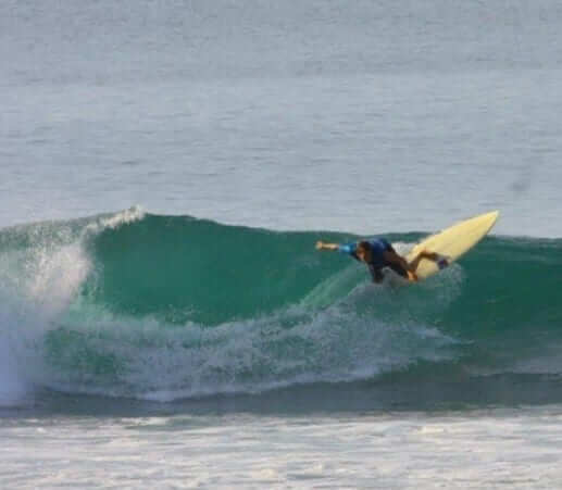 Student surfing in Bali, indonesia
