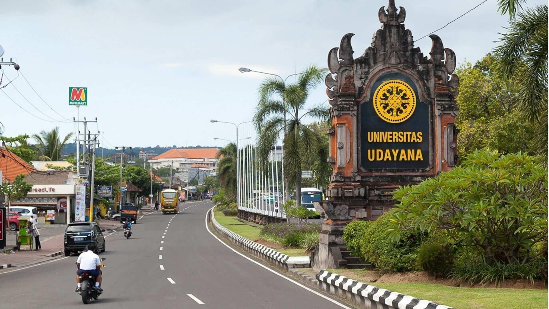 udayana university road sign