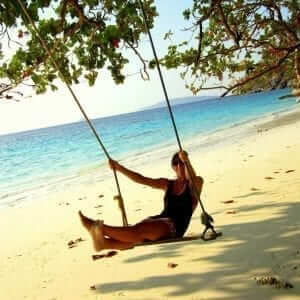 beach rope swing