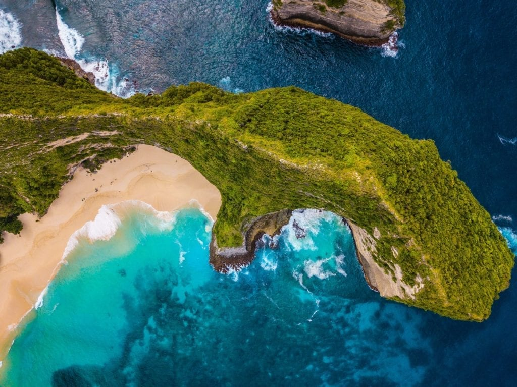 iconic part of nusa penida from thesky