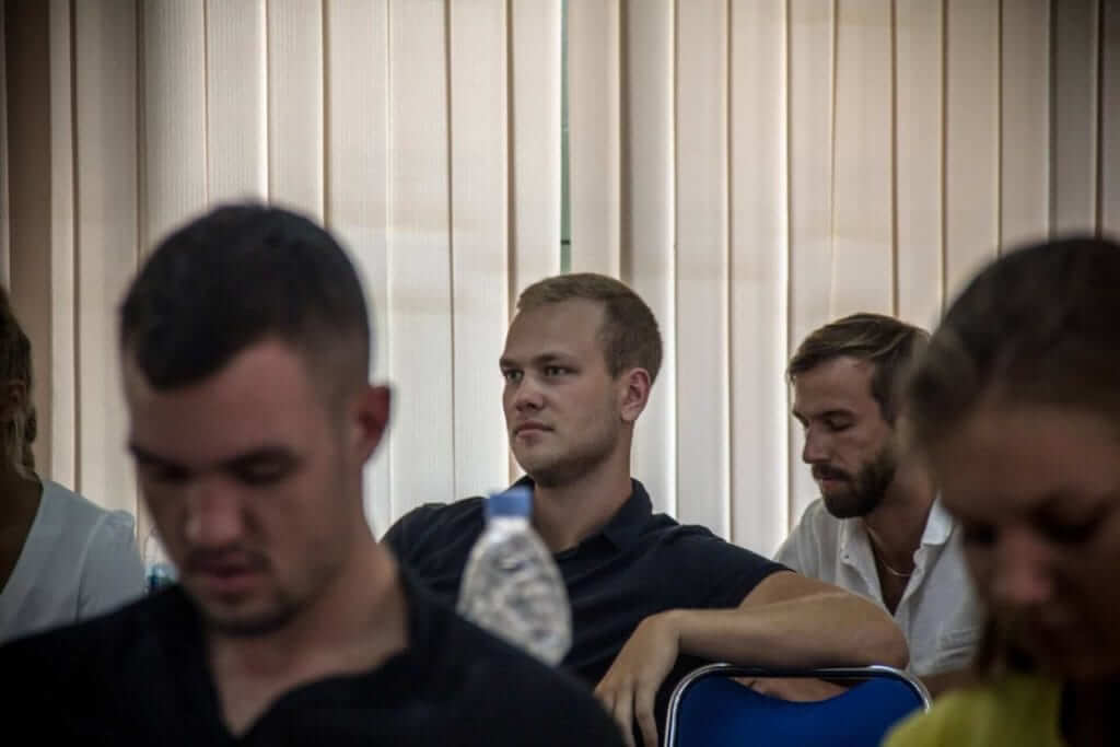 Nils Pettersson in class at Udayana