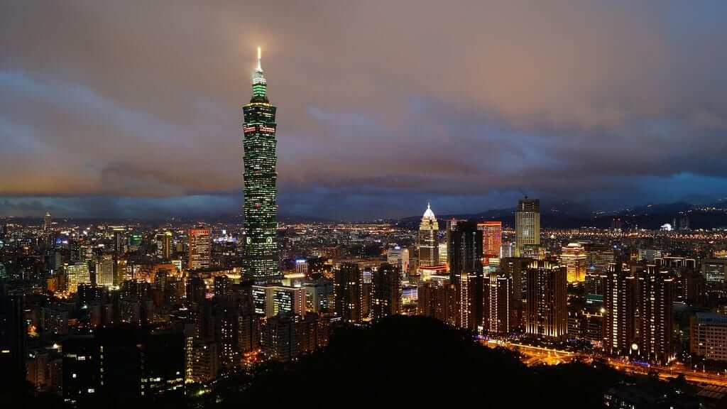 Countless skyscrapers in Taipei with Taipei 101 dominating the image