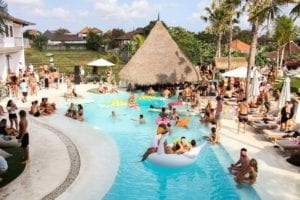 pool party in Bali