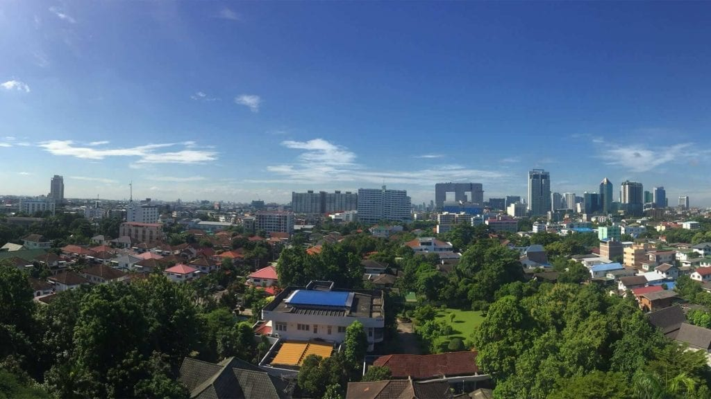 Landscape picture of Bangkok on a beautiful day