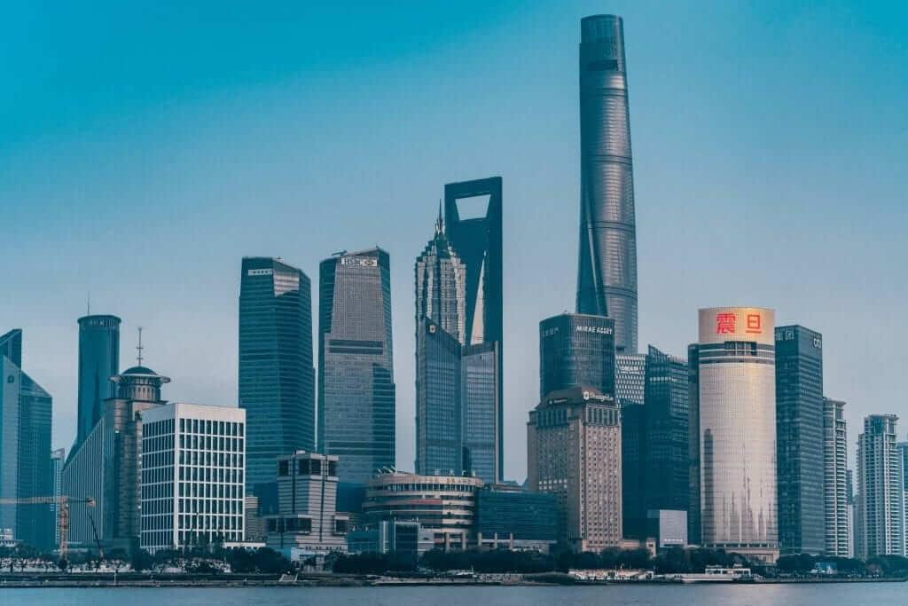 amazing view over Shanghai skyline