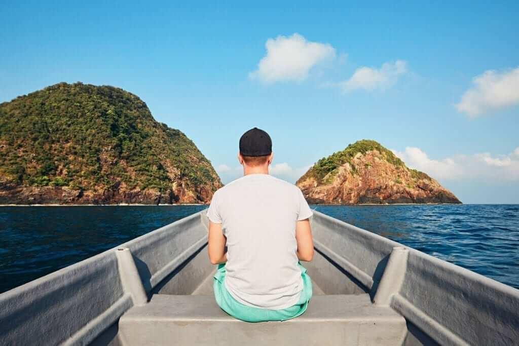 boat - human - island