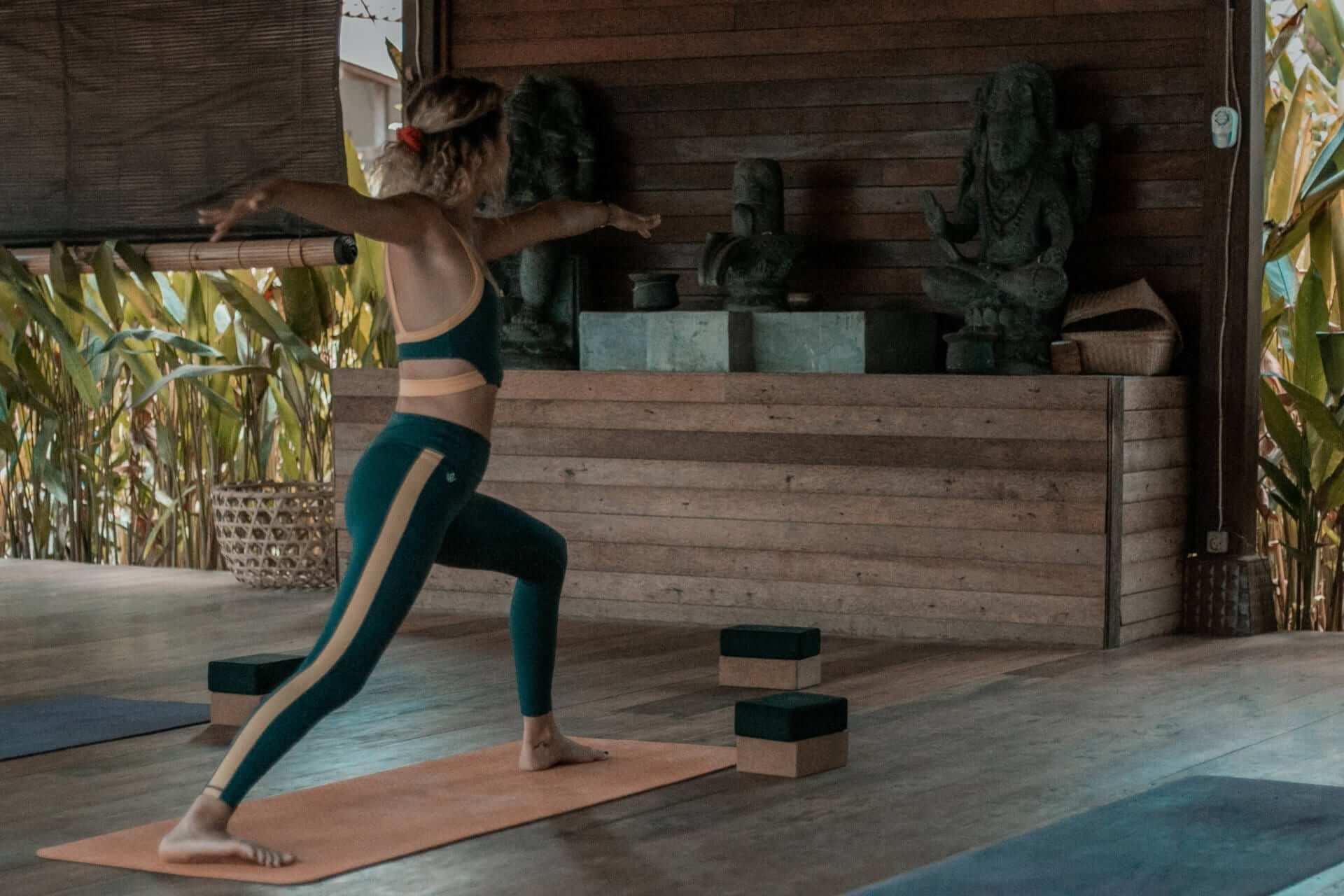 Sarah Hersping doing yoga